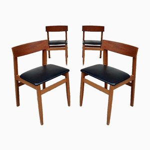 Mid-Century Danish Dining Chairs, Set of 4