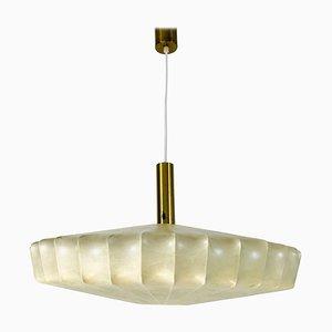 Mid-Century Modern Losange Brass Cocoon Pendant Lamp, Italy, 1960s