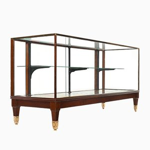 Display Cabinet in Mahogany and Brass, 1920s