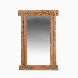 Großer Spiegel mit Holzrahmen, 1940er
