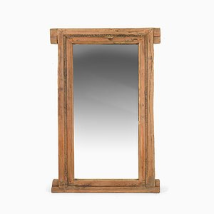 Large Wooden Mirror, 1940s