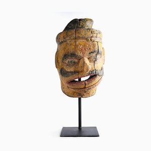 Indian Wooden Mask, 1850s