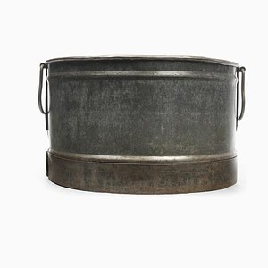 Metall Übertopf, 1940er