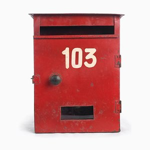 Red Number 103 Mailbox, 1940s