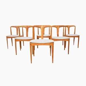 Rosewood Juliane Dining Chairs by Johannes Andersen for Uldum Mobelfabrik, Denmark, 1960s, Set of 6