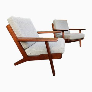 GE90 Lounge Chairs by Hans J. Wegner for Getama, 1950s, Set of 2