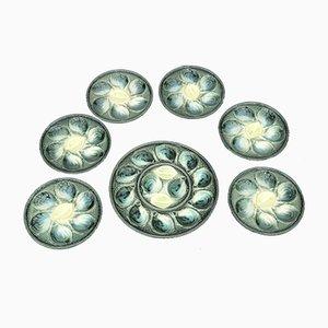 Set di Oyster in ceramica smaltata di St. Clement, anni '60, set di 7