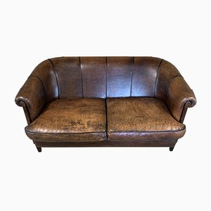 Vintage Dutch Leather Sofa