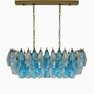 Poliedri Murano Glass Chandelier by Carlo Scarpa, 1978