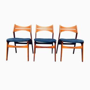 Chaises de Salon en Teck par Erik Buch pour Chr. Christiansen, 1960s, Set de 7