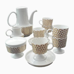 Coffee Set by Tapio Wirkkala for Rosenthal, 1970s, Set of 15