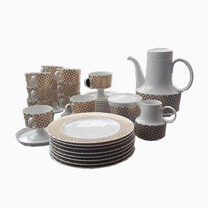 Set da tè e piatti da dessert di Tapio Wirkkala per Rosenthal, anni '70, set di 39
