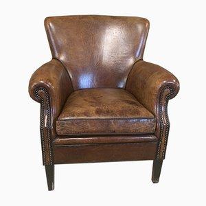 Dutch Leather Armchair, 1980s