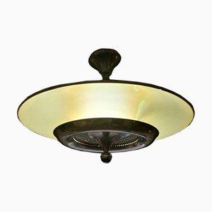 Italienische Lampe aus verchromtem Stahl, 1970er
