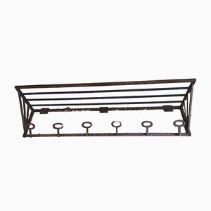 Art Deco Wrought Iron Coat Rack, 1930s