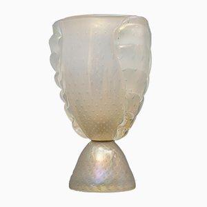 Italienische Mundgeblasene Murano Glas Tischlampe von Barovier & Toso, 1950er