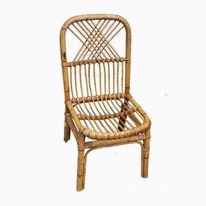 Italienische Esszimmerstühle aus Bambus, 1950er, 4er Set