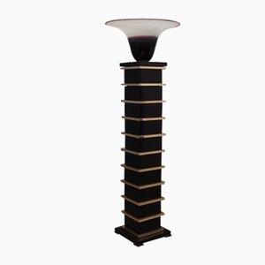 Murano Glass and Brass Floor Lamp by Barbini, 1950s