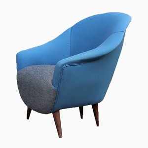 Mid-Century Egg Chair in the Style of Ico Parisi, 1950s