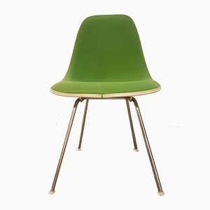 Mid-Century Fiberglass and Hopsack DSX H-Base Chair by Charles & Ray Eames for Herman Miller