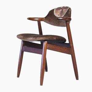 Mid-Century Danish Bull Solid Teak Side Chair, 1960s