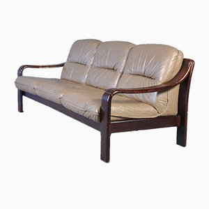 Vintage Danish Leather 3-Seat Sofa