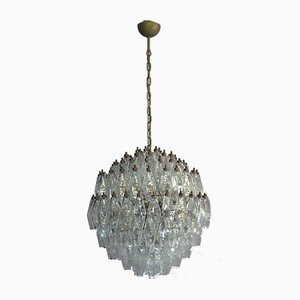 Murano Glass Poliedri Spherical Chandelier, 1980s