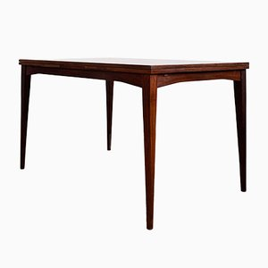 Mid-Century Extendable Rectangular Mahogany Dining Table, 1950s