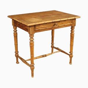 Italienischer Schreibtisch aus exotischem Holz & Lärche, 1950er