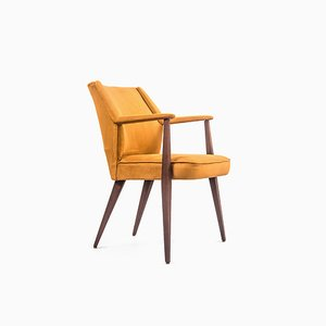 Mid-Century Teak and Alcantara Fabric Armchair from Baghera, 1960s