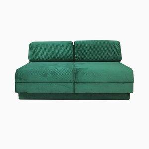 Grünes Vintage Schlafsofa, 1980er