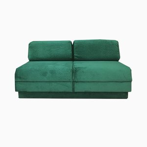 Vintage Green Daybed Sofa, 1980s