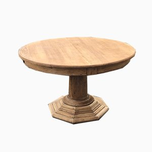 Bleached Oak French Round Dining Table or Centre Table