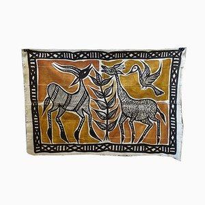 Afrikanische Wanddekoration aus Leinen mit Tieren, 1970er