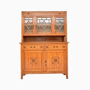 Antique Austrian Arts & Crafts Satinwood Dresser & Chair, Set of 2