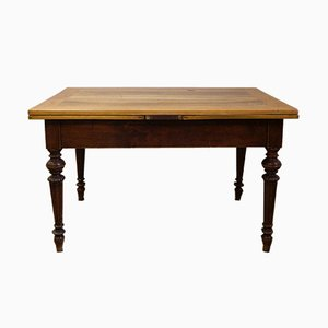 Antique Extendable Dining Table with Cherry Top