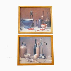 Framed Still Lifes by Proferio Grossi, 1970s, Set of 2
