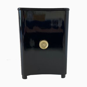 Art Deco Italian Black and Brass Cabinet, 1940s