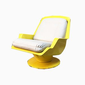 Space Age Italian ABA and Leather Lounge Chair by Richard Neagle for Sormani, 1960s