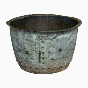 Victorian Verdigris Copper Planter