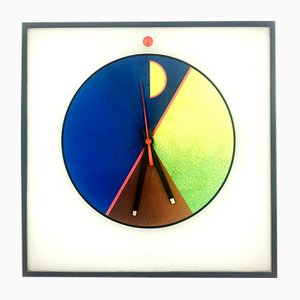 Plastic Morphos Kloks Wall Clock by Kurt B. Delbanco for Acerbis, 1980s