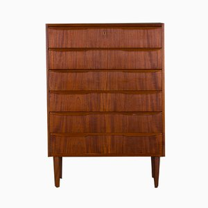 Mid-Century Danish Teak Tall Chest of Drawers