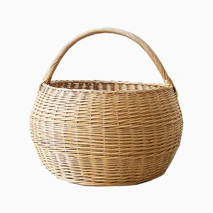 Large Rattan Basket, 1970s