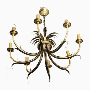 Brass Chandelier from S.A.Boulanger, 1970s