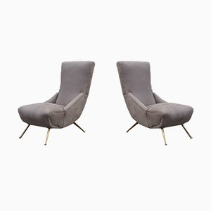 Kleine Italienische Boomerang Sessel, 1950er, 2er Set