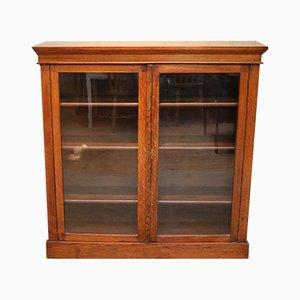 Glasiertes Bücherregal aus Eiche, 1910er
