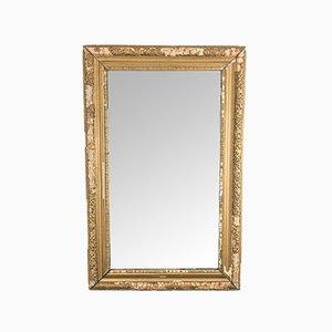 Antiker Verzierter Goldener Französischer Spiegel
