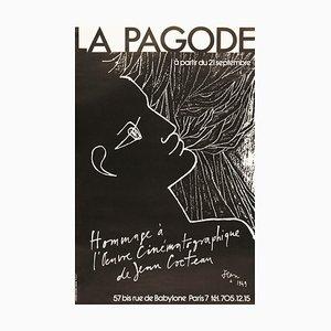 Poster von Jean Cocteau, 1970er