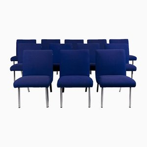 Vostra Blue Fabric Armchairs from Walter Knoll, Set of 12