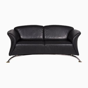 Sample Ring Black Leather 3-Seat Sofa from Musterring